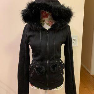 UNITA Sweaters - UNITA Black Hoodie Size L